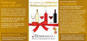 Flyer Domenicos Weihnachten