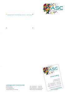 Briefpapier und Visitenkarten ASC