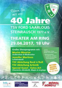 Plakat TSV Steinrausch 40 Jahre