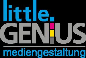 Logo Little Genius Mediengestaltung weiss