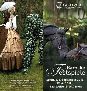 Flyer Kulturamt Barocke Festspiele 2015 Cover