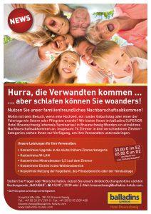 Flyer balladins Braunschweig Verwandte