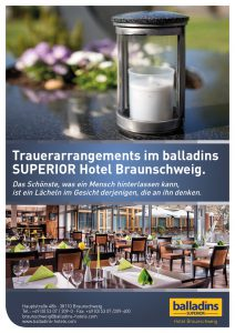 Flyer Best Western Hotel Braunschweig Trauerfeiern