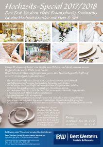 Flyer Best Western Hotel Braunschweig Hochzeiten