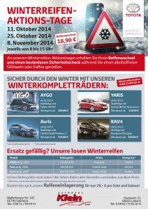 Flyer Winterreifen Autohaus Klein