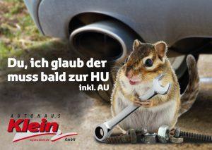 Postkarte Autohaus Klein