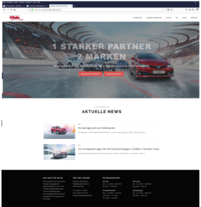 Webseite Autohaus Klein Saarlouis
