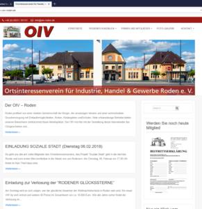 Webseite OIV Roden