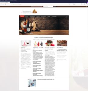 Webseite Domenicos