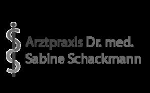 Logo Arztpraxis Schackmann schwarz